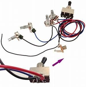 Zorvo Guitar Wiring Harness Kit 2v2t 3 Way Toggle Switch