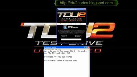 test drive unlimited 2 serial ve unlock code