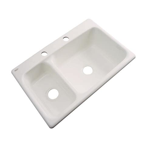 Thermocast Wyndham Dropin Acrylic 33 In 2hole Double