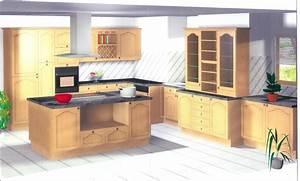 Plan De Cuisine 3d : logiciel implantation cuisine table de cuisine ~ Nature-et-papiers.com Idées de Décoration