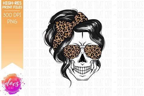 We have a huge range of svgs products available. The Messy Bun Skull with Leopard Bow and Sunglasses | Etsy