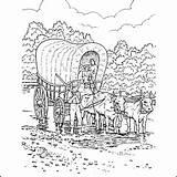 Pioneer Coloring Wagon Covered Printables Worksheet Hernandez Beverly sketch template