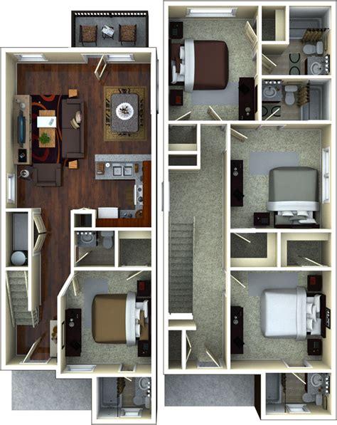 apartment floor plans   retreat  gainesville