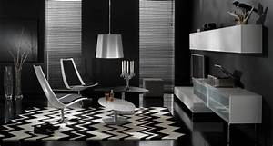 17 inspiring wonderful black and white contemporary With black and white interior design living room