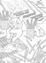 Coloring Cat Grumpy Another Stamping Craftgossip sketch template