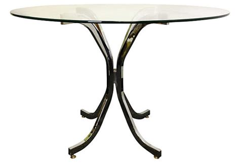 milo baughman style chrome dining table modern vintage mix