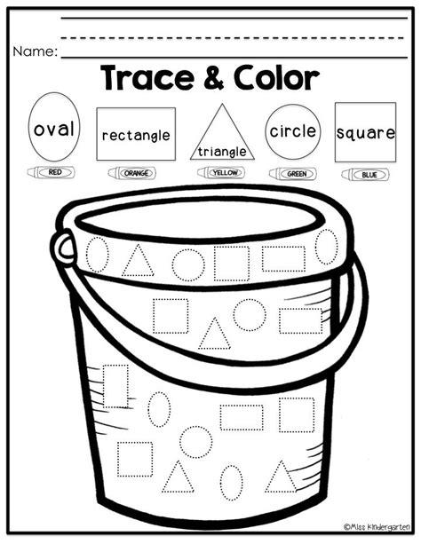 tracing shapes worksheet for kindergarten 1000 images