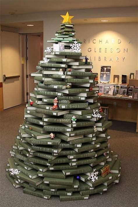 christmas by the book a tree created entirely out of books bit rebels