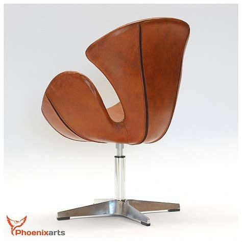 chaise en cuir veritable cuir véritable rétro fauteuil vintage en design chaise