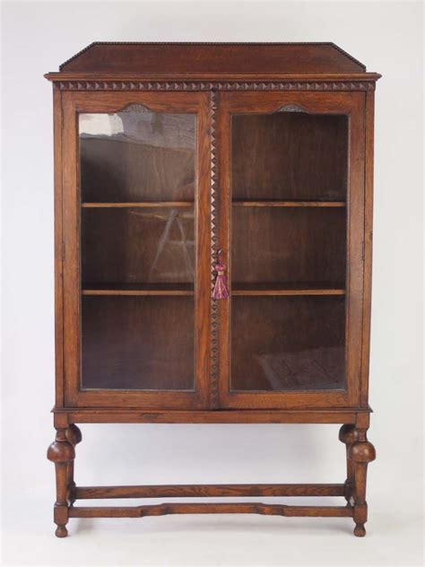 Oak Bookcase by Slim Antique Edwardian Oak Bookcase