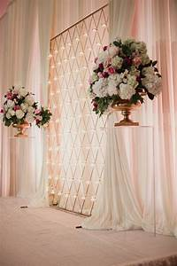 Luxurious dallas wedding at adolphus hotel wedding for Backdrop decoration for wedding