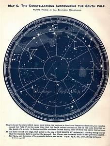 Astronomy STAR MAP 1920s Northern constellations star ...