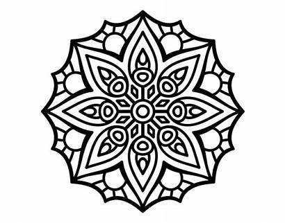 Mandala Simple Symmetry Coloring Mandalas Coloringcrew
