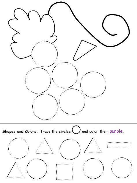 Shapes Recognition Practice Worksheet  Preschool Shapes  Pinterest  Shape, Circles And Worksheets