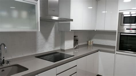 cocina blanco brillo  silestone kensho jpg cocinas alba
