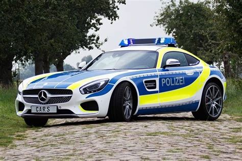 Mercedes Amg Gt-s As A German Police Car