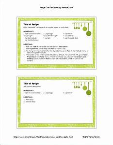 Free printable recipe card template for word for Template for recipes in word
