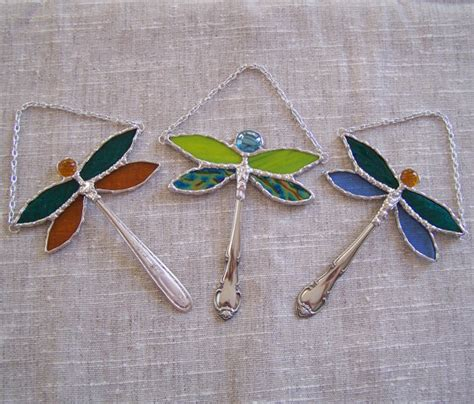 dragonfly stained glass l stained glass dragonfly ornament suncatcher window hanging