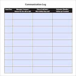 Quote Sheets Templates Communication Log Template 8 Free Pdf Doc