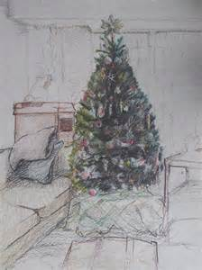 Christmas Tree Drawings Pencil