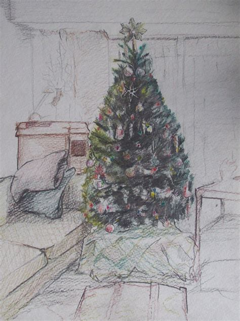 pencil drawings christmas trees december 171 2010 171 neprud