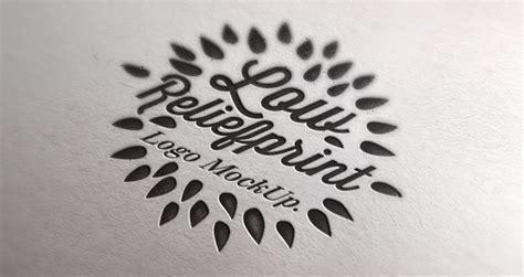 letterpress logo mock  template psd mock  templates