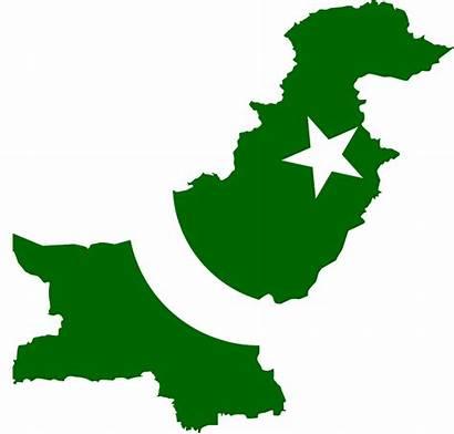 Pakistan Flag Map Clip Vector Icon