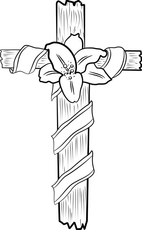 cross coloring page free printable cross coloring pages for