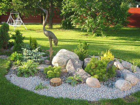 stunning rock garden design ideas corner