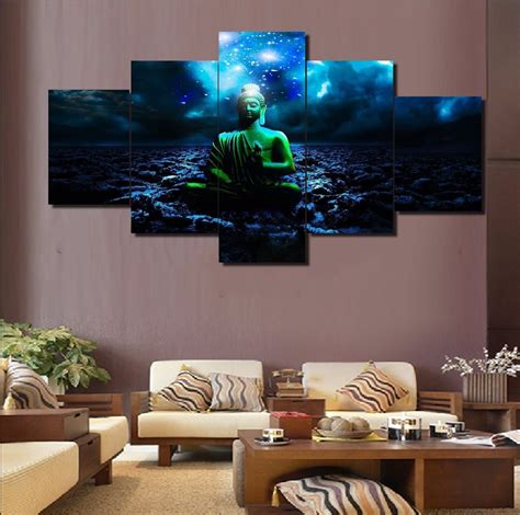 home decor wall 5 panel modular home decor wall buddha painting