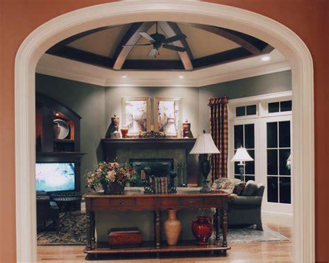 hearth room   custom house plans  studer