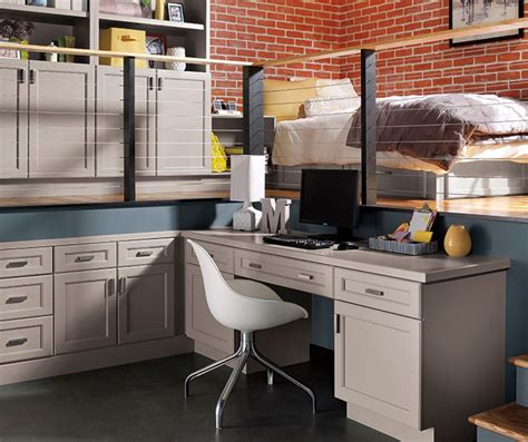 file drawer kitchen craft cabinetry 566 gray cabinets in casual office