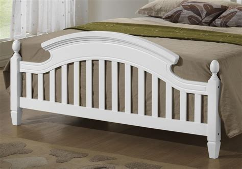 Arched Headboards by White Wooden Arched Headboard Bed Frame In 3ft Single 4ft6