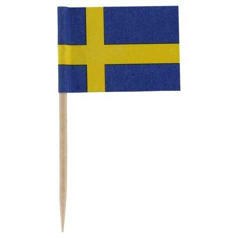 Sweden Flag Toothpicks - Package of 100