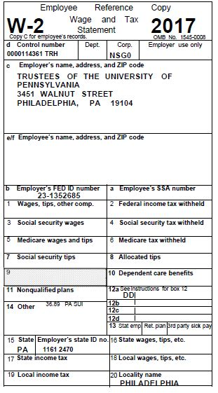 tax forms   university  pennsylvania almanac