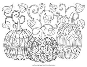 Free Printable Fall Coloring Pages Adult