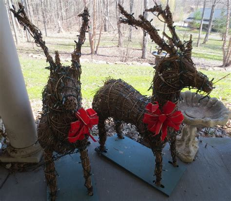 lighted reindeer yard decorations bloggerluvcom