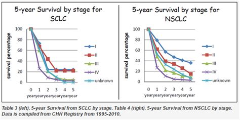 life expectancy  stage  lung cancer