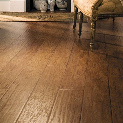 Allen Roth Floor L by Shop Allen Roth 6 14 In W X 4 52 Ft L Saddle Handscraped