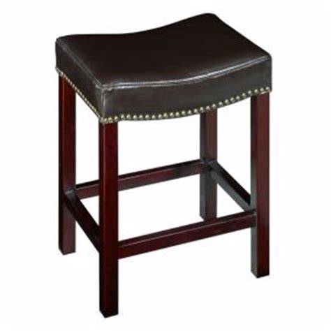 backless leather counter stools black home decorators collection 24 in brown cushioned bar 7556
