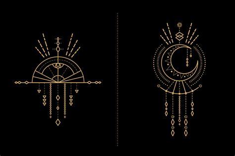 mandala set tribal elements shaman  elements