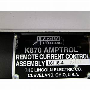 Lincoln Electric K870 Foot Amptrol L8118-4 S10