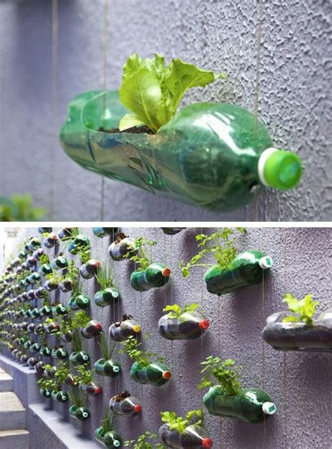 recycle plastic bottles  outdoor home decorating  garden design