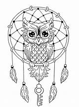 Coloring Owls Simple Pages sketch template