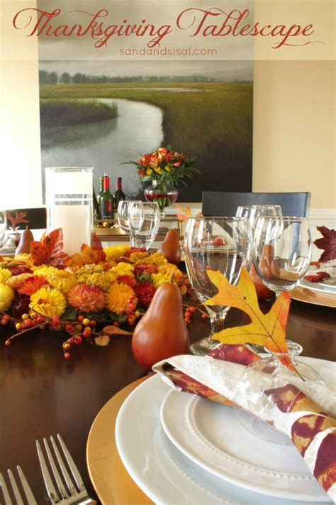 thanksgiving tablescape sand  sisal