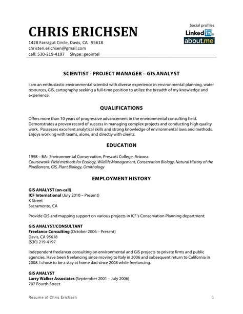 Best Gis Resumes by Chris Erichsen Resume