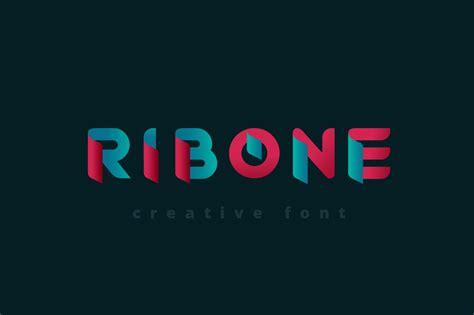 ribone font fonts creative market
