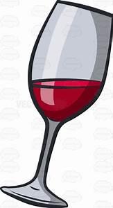 A glass of red wine #cartoon #clipart #vector #vectortoons ...