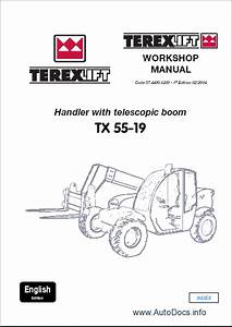 Terex Lift Parts Catalog Repair Manual Order  U0026 Download