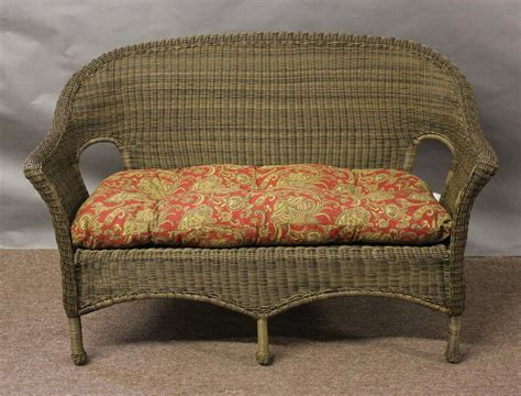 Wicker Settee Cushions by Summerset 4 Wicker Seating Set All About Wicker
